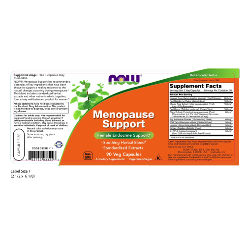 NOW FOODS -Menopause Support - 90 Veg Capsules