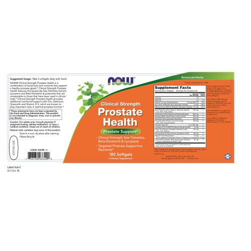 NOW FOODS -Prostate Health Clinical Strength - 180 Softgels