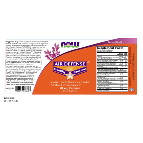 NOW FOODS -Air Defense® - 90 Veg Capsules