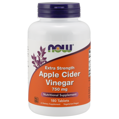 NOW FOODS -Apple Cider Vinegar, Extra Strength 750 mg - 180 Tablets