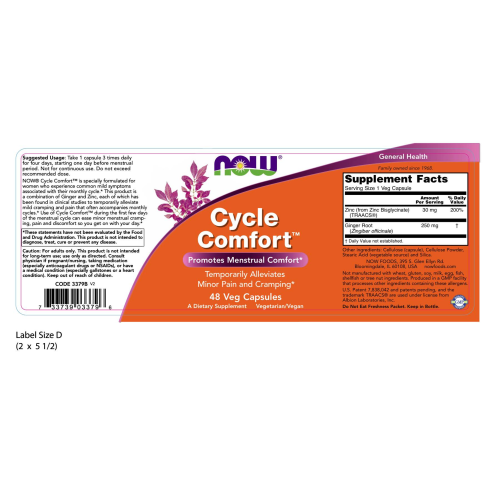 NOW FOODS -Cycle Comfort™ - 48 Veg Capsules