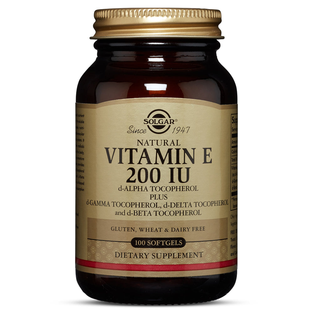 solgar vitamin e 200 iu mixed softgels 200 iu d alpha tocopherol mixed tocopherols 100