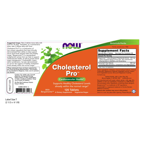 NOW FOODS -Cholesterol Pro™ - 120 Tablets
