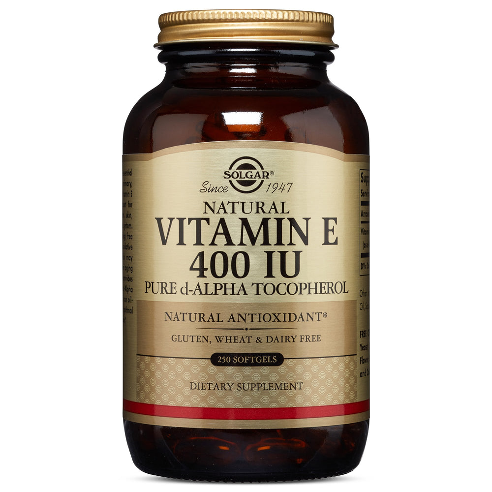 Solgar- Vitamin E 400 IU Alpha Softgels- 250