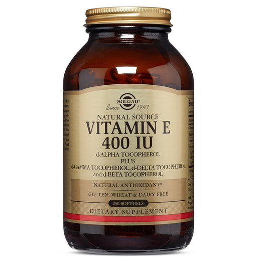 Solgar- Vitamin E 400 IU Mixed Softgels (400 IU d-Alpha Tocopherol & Mixed Tocopherols)- 250