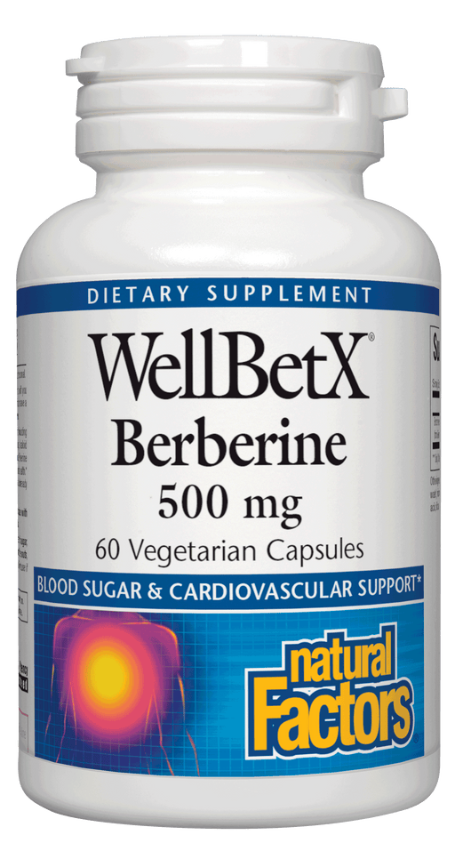 Natural Factors-WellBetX® Berberine 500 mg 60 VCAP