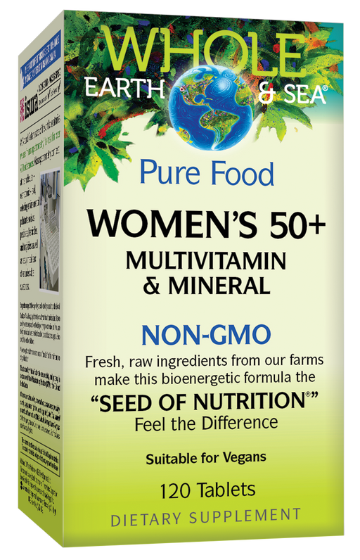 Natural Factors - Whole Earth & Sea® Women's 50+ Multivitamin & Mineral