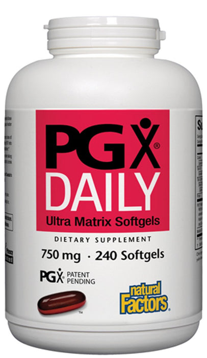 Natural Factors - PGX Daily Ultra Matrix Softgels 750 Mg, 240 Softgels
