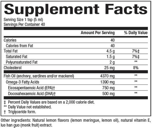 Natural Factors-SeaRich™ Omega-3 EPA 750 mg/DHA 500 mg Lemon Meringue 6.76 OZ