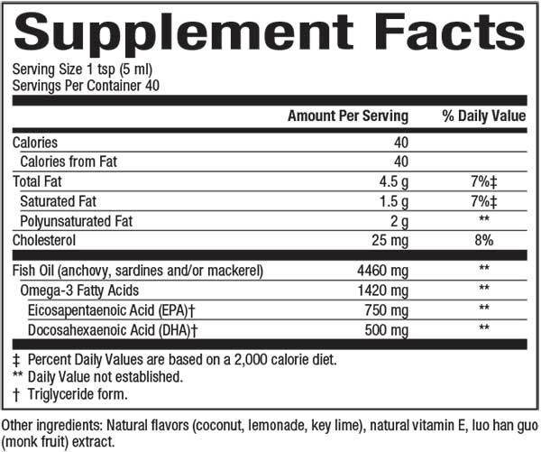 Natural Factors-SeaRich™ Omega-3 EPA 750 mg/DHA 500 mg Coconut-Lime  6.76 OZ