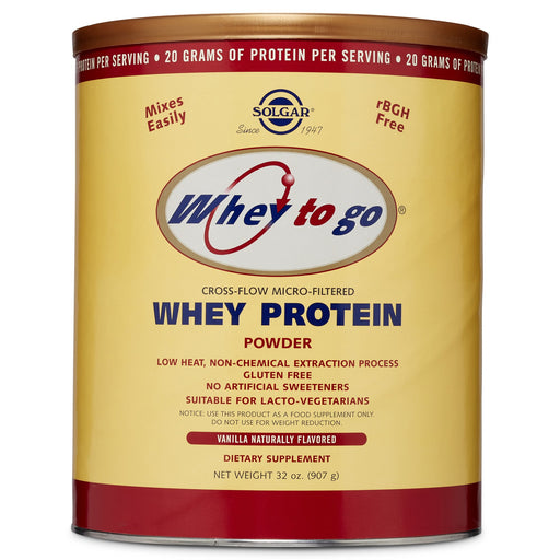 Solgar- Whey To Go® Protein Powder* Natural Vanilla Flavor- 32 oz
