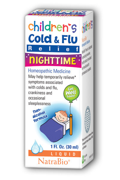 NatraBio -Children's Cold & Flu Relief Nighttime 1oz