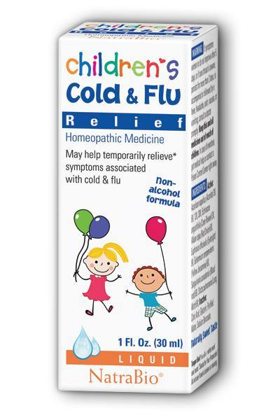 NatraBio -Children's Cold & Flu 1oz - Highland Health Foods