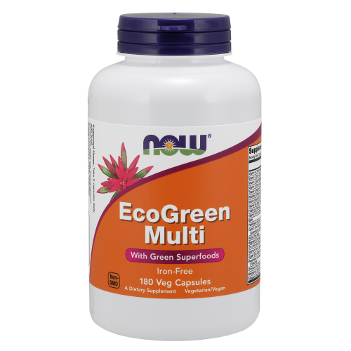 NOW FOODS -EcoGreen Multi Vitamin - 180 Veg Capsules