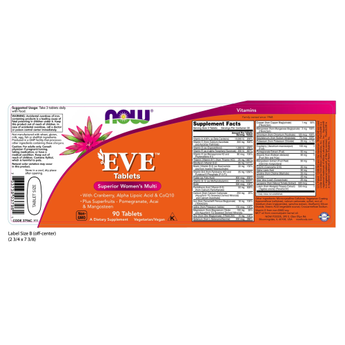 NOW FOODS -Eve™ Women's Multiple Vitamin - 90 Tablets