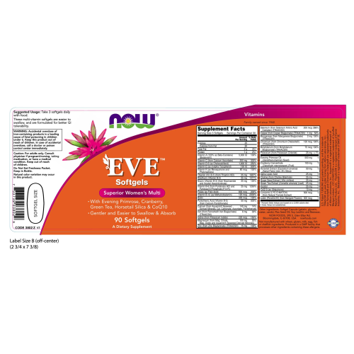 NOW FOODS -Eve™ Women's Multiple Vitamin - 90 Softgels