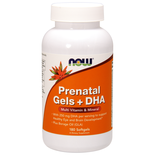 NOW FOODS -Prenatal Gels + DHA - 180 Softgels
