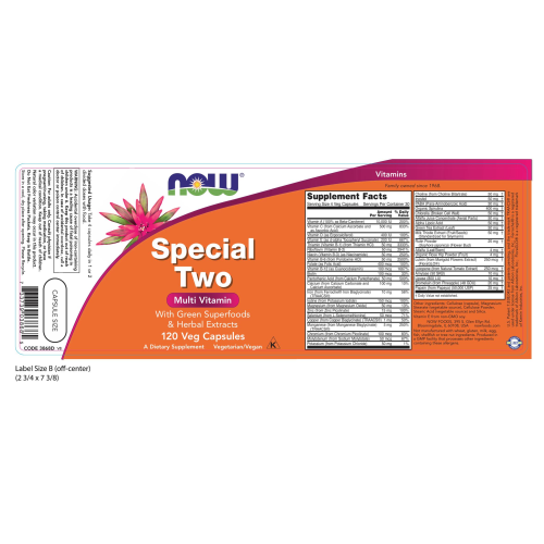 NOW FOODS -Special Two - 120 Veg Capsules