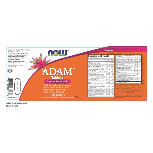 NOW FOODS -ADAM™ Superior Men's Multiple Vitamin - 120 Tablets