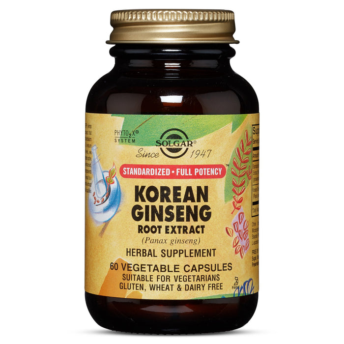 Solgar- SFP Korean Ginseng Root Extract Vegetable Capsules- 60