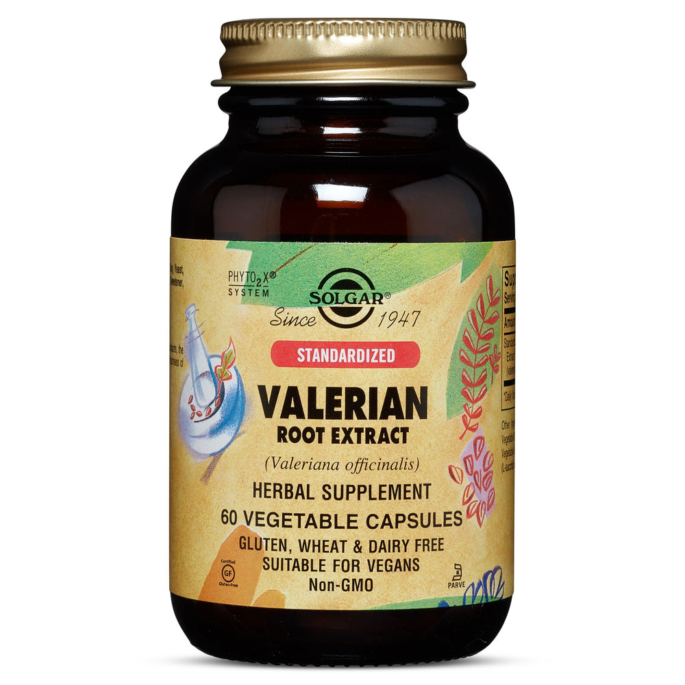 Solgar- Standardized Valerian Root Extract Vegetable Capsules- 60