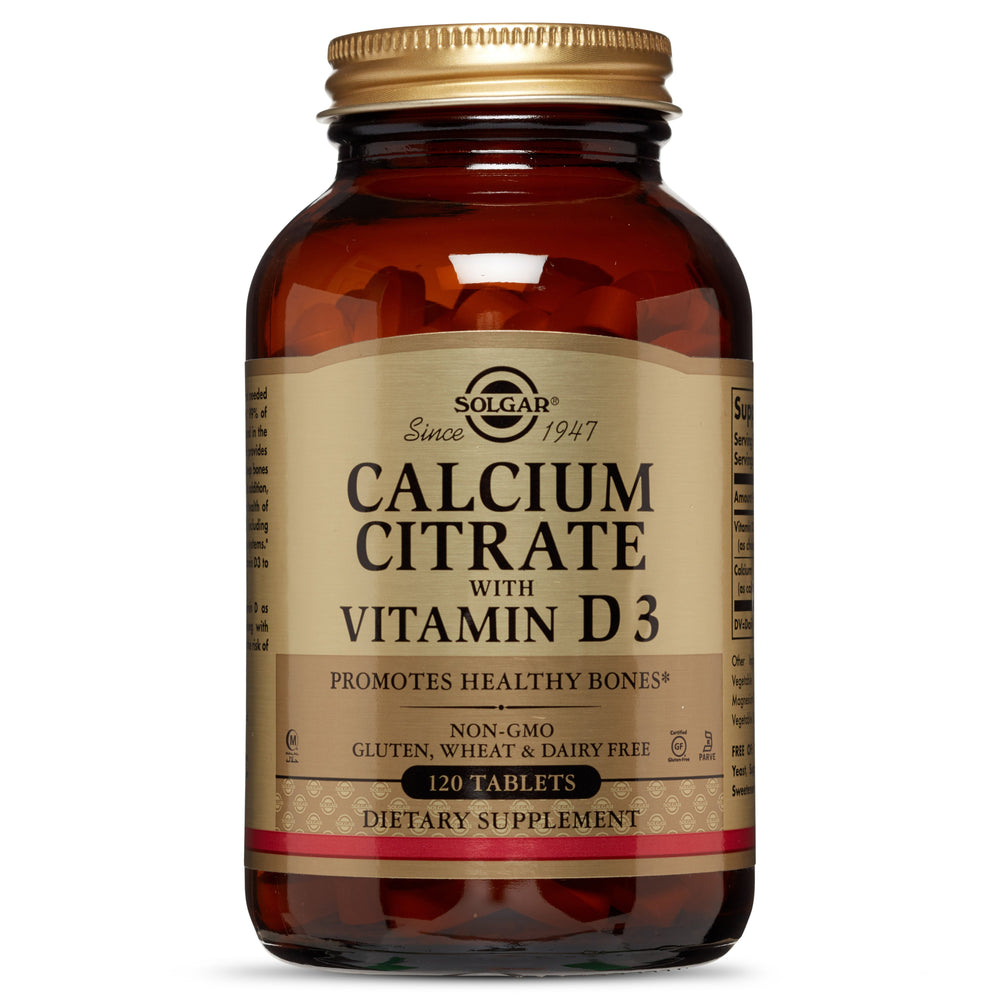 Solgar- Calcium Citrate with Vitamin D3 Tablets- 120