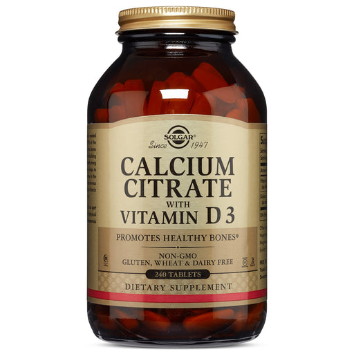 Solgar- Calcium Citrate with Vitamin D3 Tablets- 240