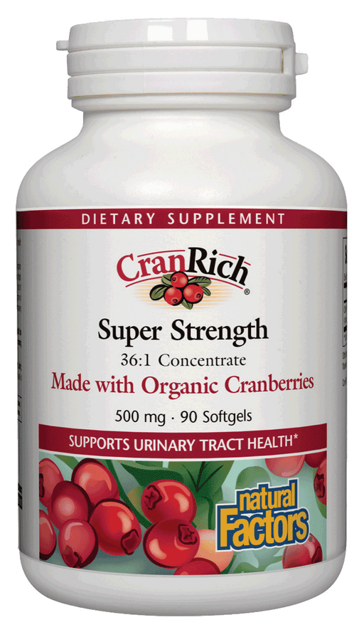 Natural Factors-CranRich® 500 mg Organic Cranberries 90 SG
