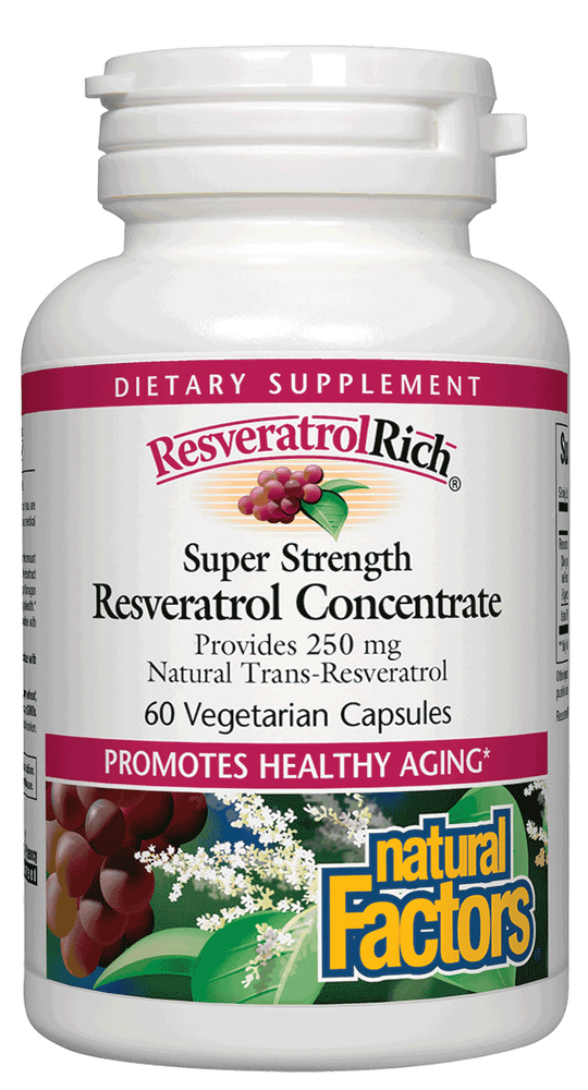 Natural Factors-ResveratrolRich® Super Strength 500 mg  60 VCAP