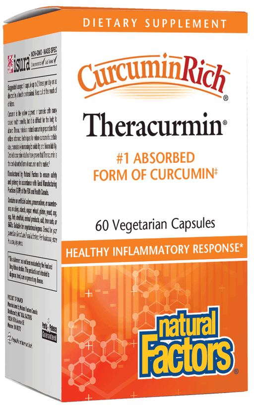 Natural Factors - CurcuminRich Theracurmin 30mg, #1 Absorbed Form of Curcumin, 60 Vegetarian Capsules