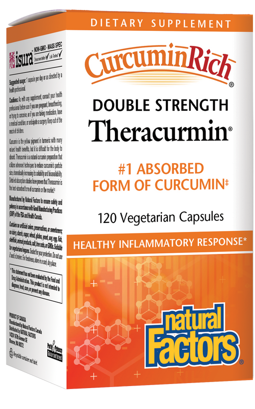 Natural factors - CurcuminRich Theracurmin Double Strength 120 Vegetarian Capsules