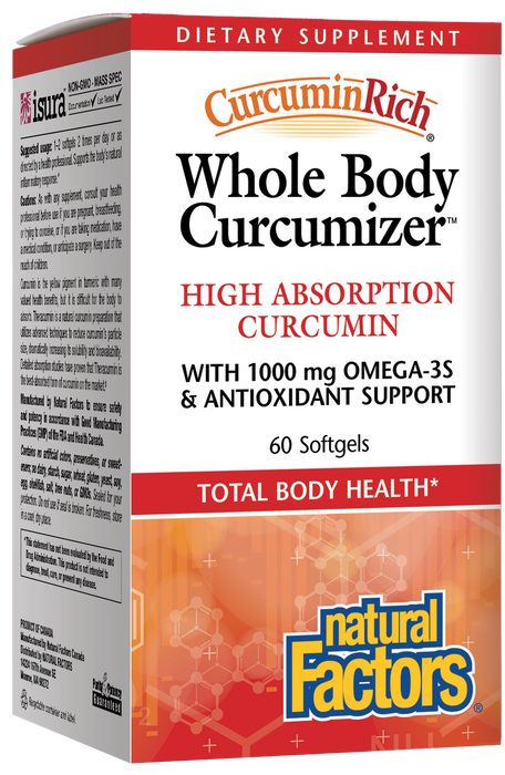 Natural Factors-CurcuminRich® Whole Body Curcumizer™  60 SG