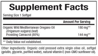 Natural Factors-Oil of Oregano 180 mg  30 SG