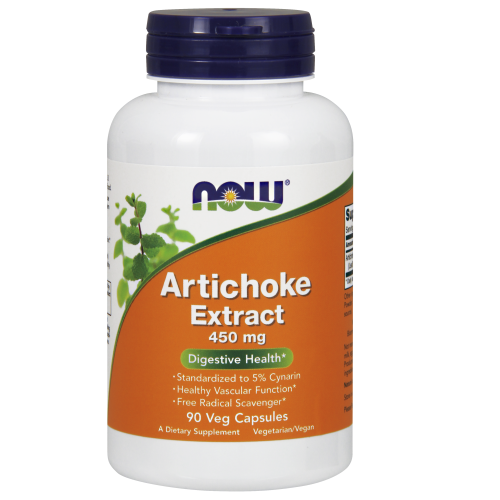 NOW FOODS -Artichoke Extract 450 mg - 90 Veg Capsules