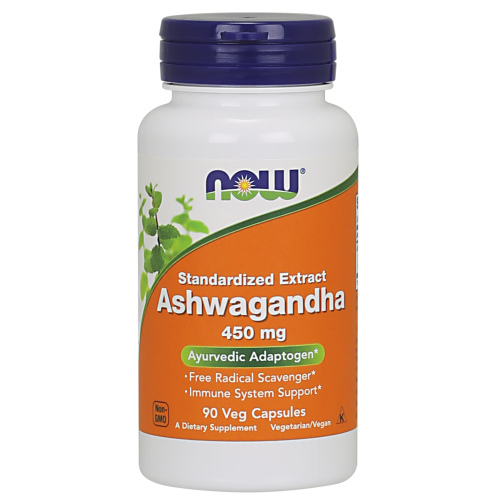 NOW FOODS -Ashwagandha 450 mg - 90 Veg Capsules
