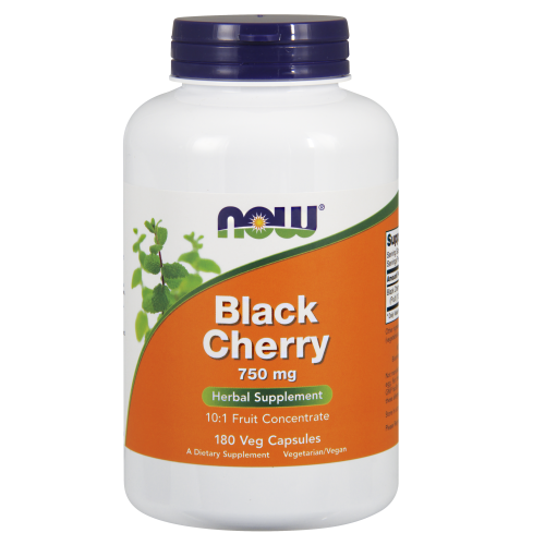 NOW FOODS -Black Cherry 750 mg - 180 Veg Capsules