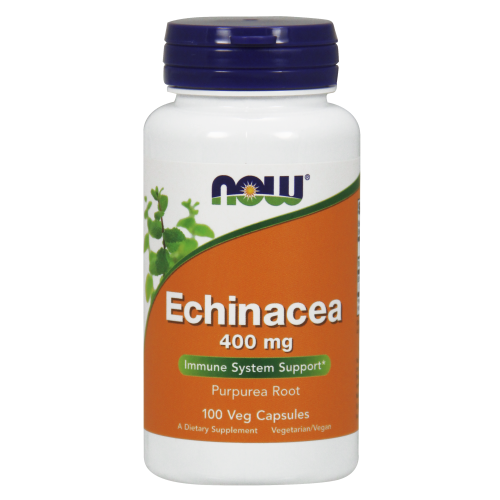 NOW FOODS -Echinacea 400 mg - 100 Capsules