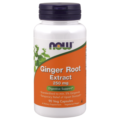 NOW FOODS -Ginger Root Extract 250 mg - 90 Veg Capsules