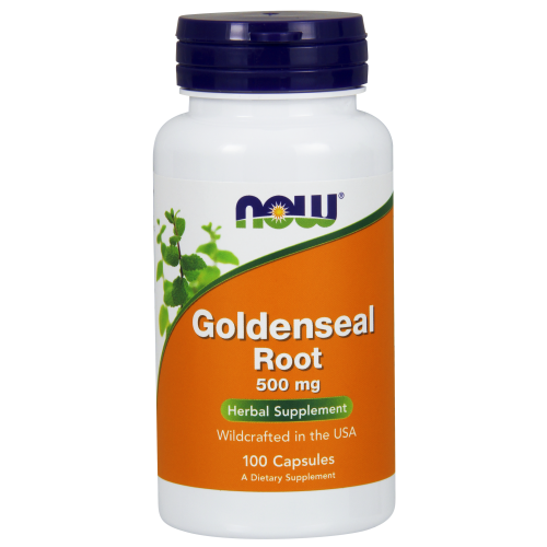 NOW FOODS -Goldenseal Root 500 mg - 100 Capsules