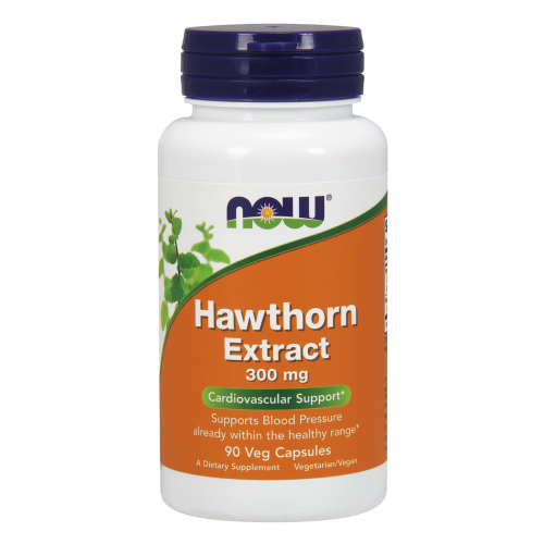 NOW FOODS -Hawthorn Extract 300 mg - 90 Veg Capsules