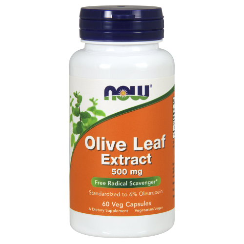 NOW FOODS -Olive Leaf Extract 500 mg - 60 Veg Capsules
