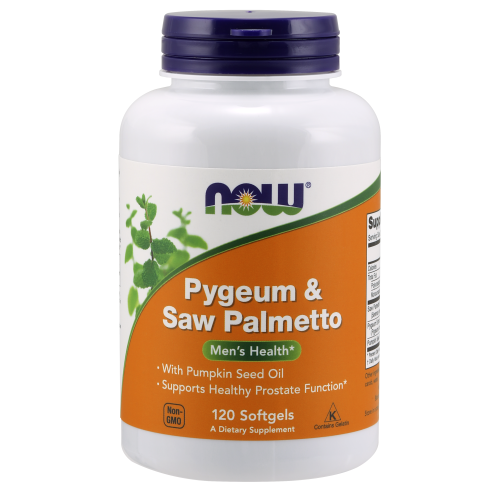 NOW FOODS -Pygeum & Saw Palmetto - 120 Softgels