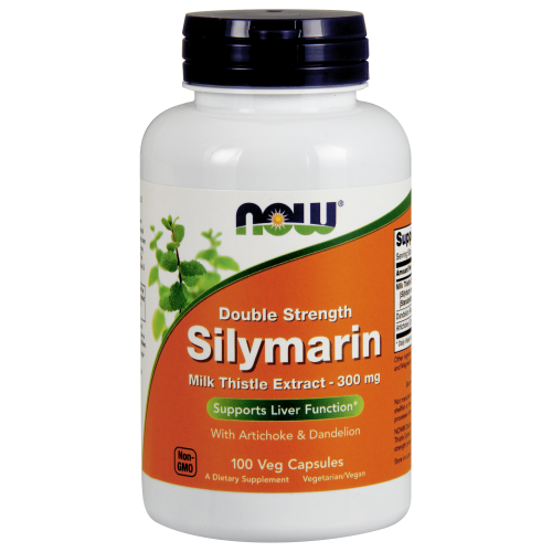 NOW FOODS -Silymarin, Double Strength 300 mg - 100 Veg Capsules