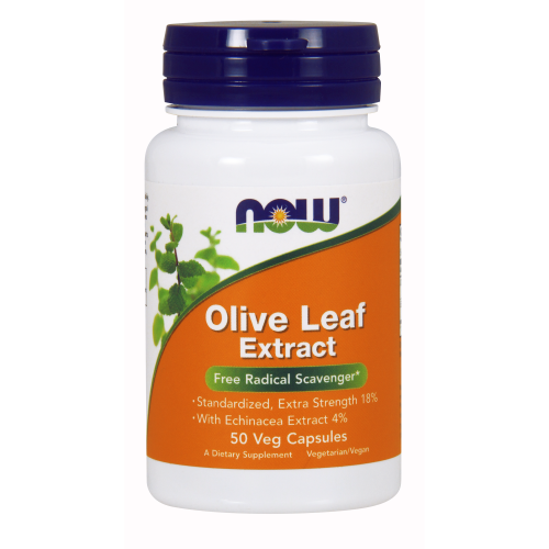 NOW FOODS -Olive Leaf Extract - 50 Veg Capsules