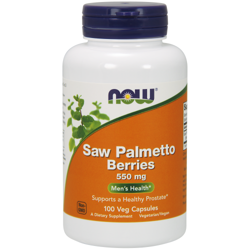 NOW FOODS -Saw Palmetto Berries 550 mg - 100 Capsules