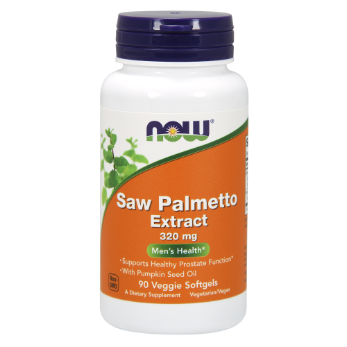 NOW FOODS -Saw Palmetto Extract 320 mg - 90 Veggie Softgels
