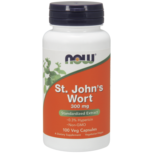 NOW FOODS -St. John's Wort 300 mg - 100 Veg Capsules