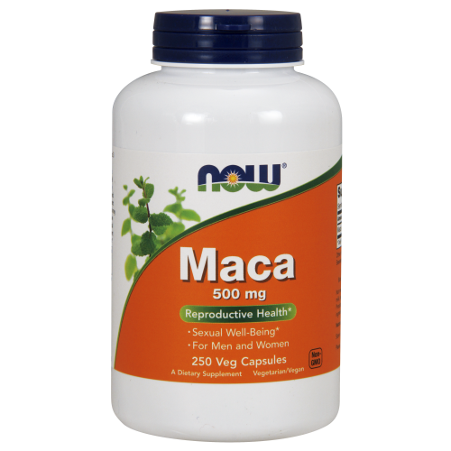 NOW FOODS -Maca 500 mg - 250 Veg Capsules