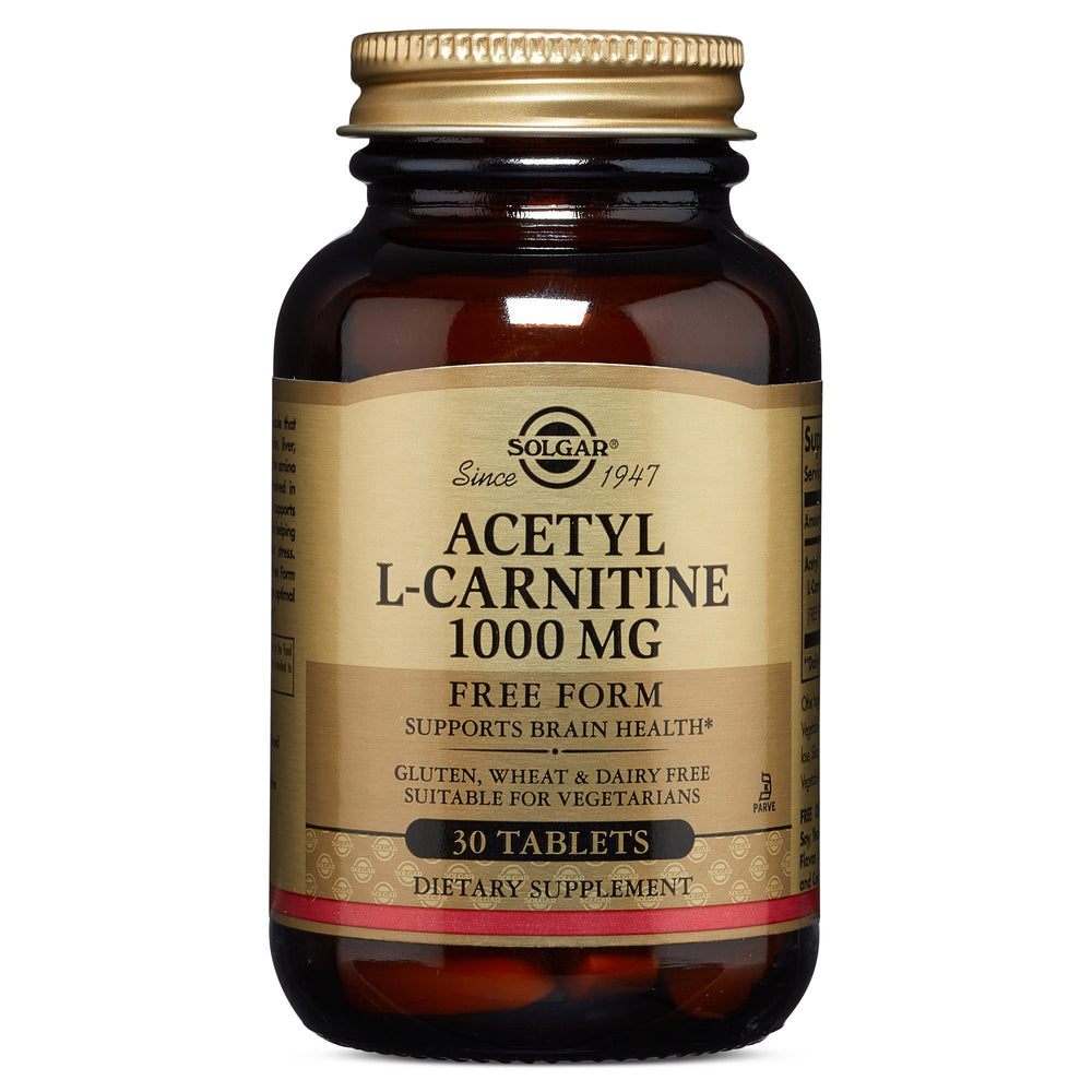 Solgar- Acetyl L-Carnitine 1000 mg Tablets- 30