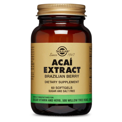 Solgar- Açaí Extract Brazilian Berry Softgels- 60